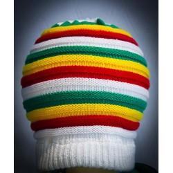 bonnet blanc vert jaune rouge grande taille  sans visière