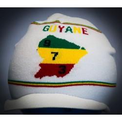 Bonnet blanc 973 guyane vert jaune et rouge