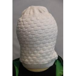 Bonnet taille grande de couleur blanche