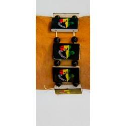 Bracelet plastique 971 vert jaune rouge