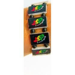 Bracelet élastique 972 vert jaune rouge madinina