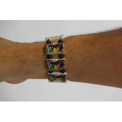 Bracelet élastique rasta baby vert jaune rouge