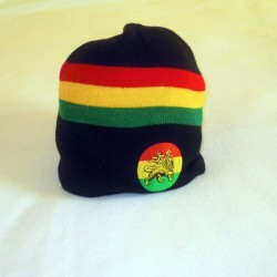 Bonnet noir Lion of Jah