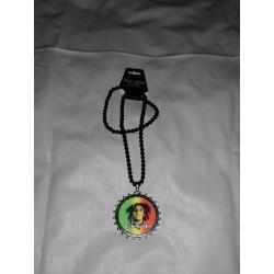 Collier de perles noires  Bob Marley