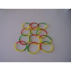 bracelet rasta en plastique de forme ronde