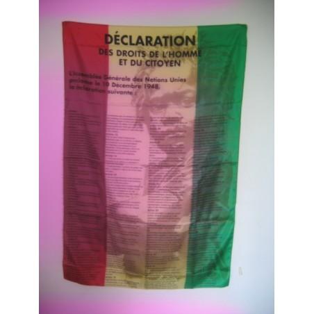 Drapeau vert jaune rouge la déclaration des droits de l'homme rasta baby