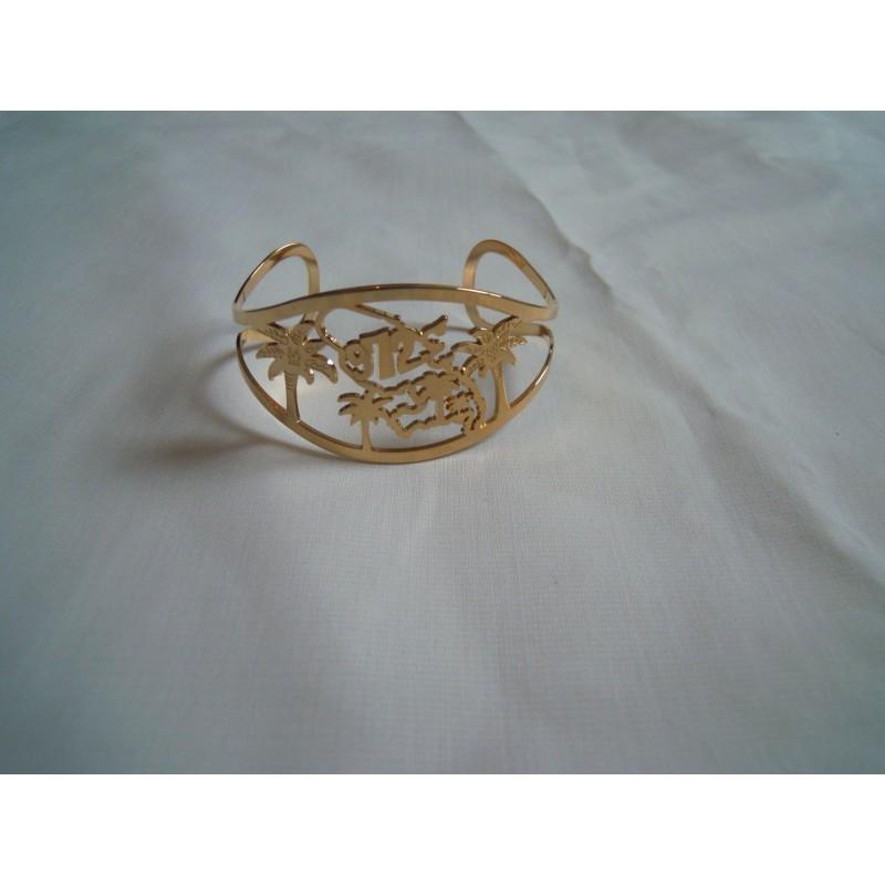 Bracelet MADININA  971 en plaqué or 3 microns