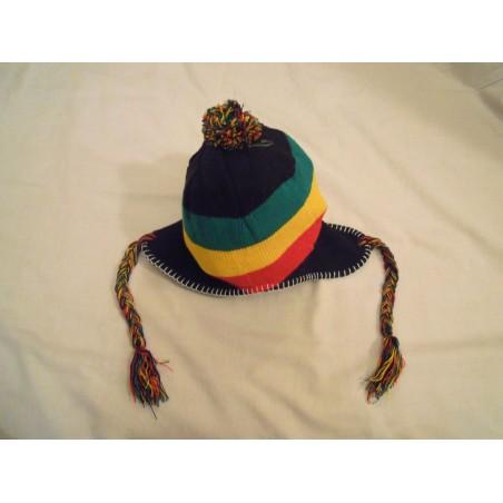 Bonnet cash oreille vert jaune rouge