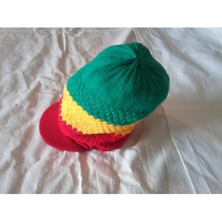 Chapeau vert jaune rouge RASTA
