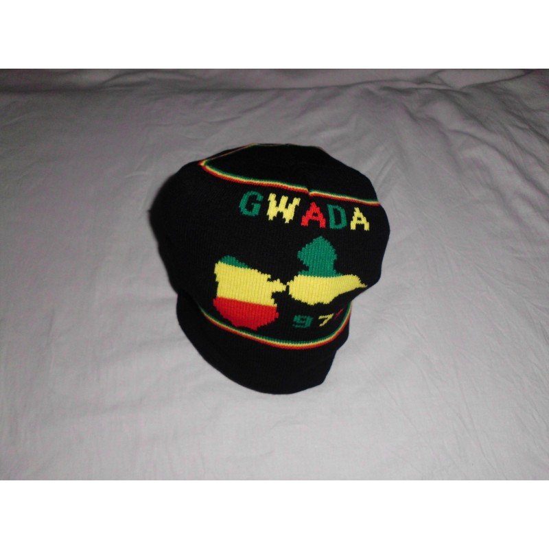 Bonnet noir sans visière GWADA 971