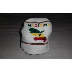 Bonnet blanc 972 madinina sans visière vert jaune rouge