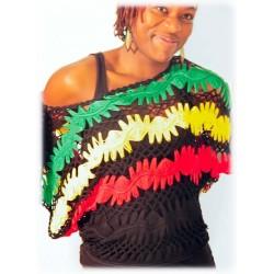 Bustier tricotés vert jaune rouge