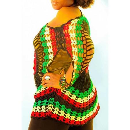 Busitier tricotés vert jaune rouge noir